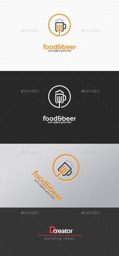 Food And Beer Logo — Vector EPS #grill #cup • Available here → https://graphicriver.net/item/food-and-beer-logo/14231226?ref=pxcr