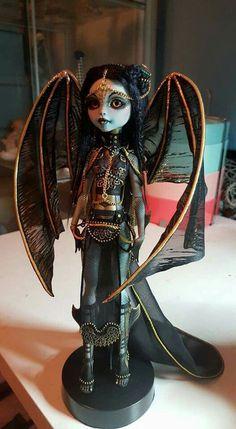 Lagoona Blue ooak by Balderdash and Brimborion Custom Monster High Dolls, Monster Dolls, Monster High Repaint, Custom Dolls, Ooak Dolls, Barbie Dolls, Art Dolls, Living Dead Dolls, Gothic Dolls