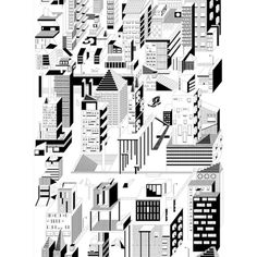 Fundamental Berlin COLORING POSTER DOWNTOWN ($45) ❤ liked on Polyvore featuring home, home decor, wall art, black, black and white home decor, black wall art, black white poster, black and white wall art and black home decor