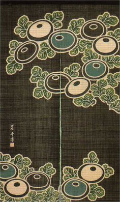 Japanese noren are shown in this page for sale. We have wide variety of noren. Japanese Textiles, Japanese Patterns, Japanese Fabric, Japanese Design, Japanese Art, Japanese Door, Art Nouveau, New Year Art, Noren Curtains