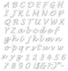 Alfabeto  Reutilizable Plantilla   AZ Letras Cuatro Tamaos