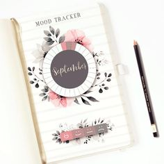 Track your mood with this Monthly Mood Tracker Printable. Its wheel is divided by 31 sections, one for each days of the month; decorated with lovely watercolor flowers. You can divide and color the legend box. Comes with 2 functional silver hand lettering stickers pages for the months. Monthly Mood Tracker PRINTABLE / Bullet Journal Insert / mood Wheel/ Watercolors Flowers/ Hand lettering Stickers #bulletjournals #ad #printable #moodtracker #layouts #template #etsy