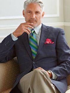 100% Wool Two-Button Notch Lapel Windowpane Sport Coat from Paul Fredrick