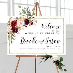 #weddingwelcomesign #welcomeweddingsign #welcomesign #weddingsign #wedding #weddingsigns #floralwelcomesign #weddingdécor #weddingposter #weddingreception #printable #sign #signs #marsala #burgundy #roses #printable #diy #gold #hippie #boho