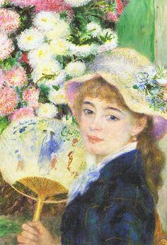 ルノワール Pierre-Auguste Renoir『団扇をもつ若い女』