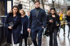 The cream of the style crop is killing it in turtlenecks under suits and topcoats // menswear street style + fashion | London Collection: Mens