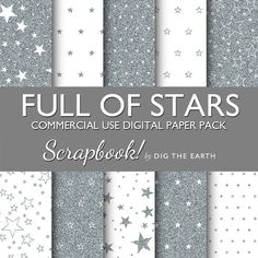 INSTANT DOWNLOAD Silver Glitter Full Of by digtheearthscrapbook