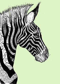 Tattooed Zebra Print.