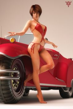 New Girl on the Block by Laticis on DeviantArt Pin Up Car, Real Doll, 3d Girl, Hot Rides, Car Girls, Female Art, Pretty Woman, Sexy Women, Hollywood