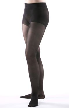 a767b56c462 Allegro Premium - Italian Sheer Pantyhose in Black - The 3-D knit produces  a. BrightLife Direct