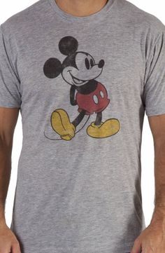 Distressed Mickey Mouse Shirt: Mickey Mouse Mens T-shirt