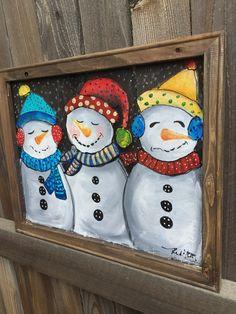 3 snowman window screensnowman artsnowman by RebecaFlottArts