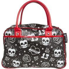 Rockabilly Psycho Skull Bowler Bag Purse Cute Purses And Bags