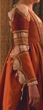 Sleeve Detail from a costume of The Borgias   Worn by Joanne Whalley as Vanozza dei Cattanei   Series Costume Design by Gabriella Pescucci