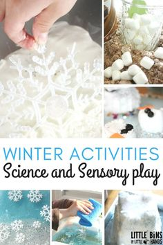 Winter activities for science and sensory play ideas! These super fun sensory activities for kids will be a lot of fun during the holiday season. Your kids will have fun with these STEM activities that are winter themed.