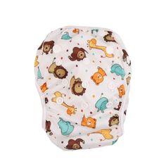จัดส่งฟรี  Hanyu นิวไลอ้อนปรับได้ขนาดเด็กผ้าอ้อมกันน้ำว่ายนำ  ราคาเพียง  158 บาท  เท่านั้น คุณสมบัติ มีดังนี้ For babies who are 0-2 Years baby Waterproof 100% polyester PUL outer layer, designed for holdingsolids. Interior Polyester mesh for easy clean up, offering comfortagainst babys sensitive skin.& Size:&35*18-21cm ( open size &L*W&) One size fits all: by adjusting the front corresponding snaps.Just perfect for saving your money in the long term.