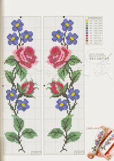 Rosas y violetas