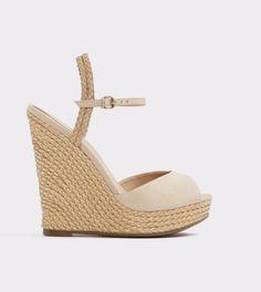 30a12b84f54e Aldo Shizuko Women US 9 10 11 Nude Wedge Sandal