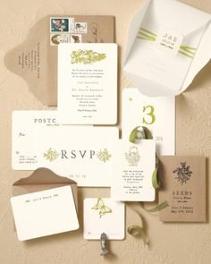 Wedding Stationery Inspired by Art Movements: Victorian Pastoral