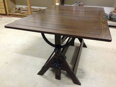 Antique Drafting Table,made Into A Dining Table.