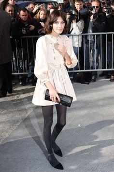 Name: Alexa Chung Age: 29 Birthplace: Privett, Hampshire, England Occupation: Model, It Girl, TV presenter, Chanel Ambassador Signature Style: Peter Pan collars, chunky knits, shorts and flats, polka dots