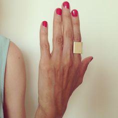 Large Flat Gold Ring