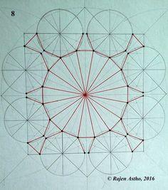 Islamic Patterns, Geometric Patterns, Geometric Designs, Geometric Art, Pattern Drawing, Pattern Art, Pattern Design, Basic Geometry, Sacred Geometry