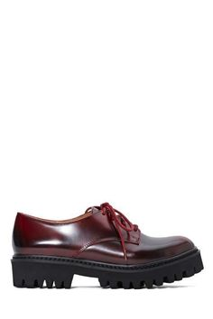 Jeffrey Campbell Pistol Leather Oxford - Wine - Shoes