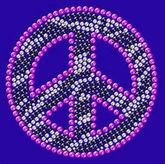 Beaded Peace Sign Art....