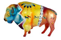 Name: Buffalo Path-The Gathering  Artist:  Monte Yellow Bird  Location: West Acres Mall (inside)  3902 13th Ave S Fargo, ND