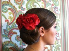 cHAIRish The Day… Hair & Makeup - San Antonio Hair and Makeup - Wedding updo with red roses