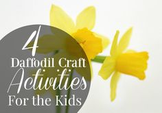This spring we're supporting the Marie Curie Daffodil Campaign. These flowery crafts will be sure to keep you and kids busy. Daffodil Craft, Outdoor Activities For Kids, Marie Curie, Business For Kids, Daffodils, Campaign, My Favorite Things, Spring, Crafts