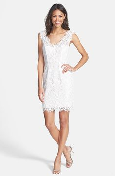 'Rose' Floral Lace Sheath Dress by Shoshanna  $244.00  #FreeShippingWorldwide