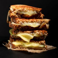 30 Ways to Make Grilled Cheese Sandwiches For Lunch, Soup And Sandwich, Wrap Sandwiches, Fruit Sandwich, How To Carmalize Onions, Making Grilled Cheese, Carmelized Onions, Baker Recipes, Cheese Recipes