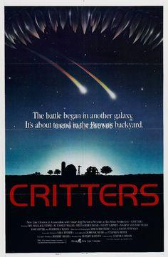 CRITTERS Movie Poster Sci Fi Horror 80's Aliens Polish Art Cult Classic Rare print on silk