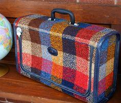 traci nicole ›  Vintage Plaid Suitcase