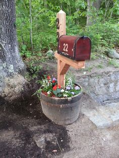 I want a post mailbox but not out by the street - up by my porch and front door.