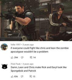 Dankest Memes, Funny Memes, Resident Evil Game, Horror Video Games, Metroid, Writing Advice, Cool Cartoons, Guys And Girls, Sim