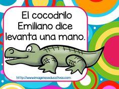 Fashion and Lifestyle Preschool Poems, Preschool Spanish, Spanish Teaching Resources, Preschool Classroom, Spanish Lessons, Preschool Activities, Spanish Teacher, Spanish Classroom, Gross Motor Activities