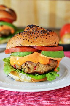 Spicy Tuna Roll Burger.  Because sometimes I can't choose between sushi and burgers, so I go for both. | blog.hostthetoast.com