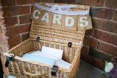 Lydia Stamps Photography Weddings Shustoke Farm Barns Card Hamper Rustic Hessian