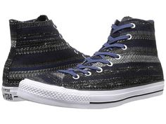 Converse Chuck Taylor® All Star® Dobby Weave Hi navy/black/white sz5 65.00