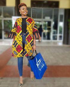 Collection of the most beautiful and Stylish Ankara Kimono Dresses, trendy ankara kimono dress, beautiful ankara kimono styles, stylish ankara kimonos, ankara kimono that trends African Fashion Ankara, Latest African Fashion Dresses, African Print Fashion, Africa Fashion, African Dress, Modern African Fashion, Latest Ankara Dresses, African Style, Mode Kimono