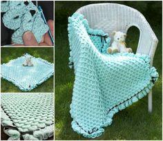 40+ Fab Art DIY Knit & Crochet Baby Blanket Free Pattern | www.FabArtDIY.com - Part 3
