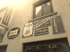 Brussels - Retro beer signs