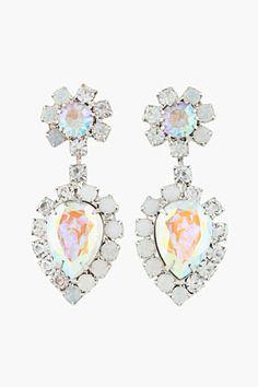 Dannijo Silver And Swarovski Handmade Mirabella Earrings for women | SSENSE