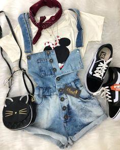 Fashion 2019 New Moda Style - fashion Cute Disney Outfits, Disney Themed Outfits, Cute Teen Outfits, Teen Fashion Outfits, Cute Summer Outfits, Retro Outfits, Outfits For Teens, Trendy Outfits, Girl Fashion
