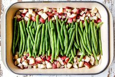 Honey Mustard Chicken baked with potatoes and green beans in ONE PAN for a flavor bursting meal-in-one OR just bake the chicken for a super easy dinner! Meat Recipes, Chicken Recipes, Cooking Recipes, Healthy Recipes, Yummy Recipes, Healthy Food, Recipies, Dinner Recipes, Chicken Green Beans