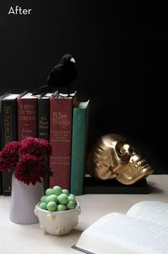 Halloween skulls become edgy bookends
