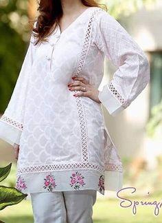 Best 12 Casual qameez – Page 679973243715391392 Pakistani Formal Dresses, Pakistani Fashion Casual, Pakistani Dress Design, Stylish Dress Designs, Stylish Dresses For Girls, Casual Dresses, Stylish Dress Book, Sleeves Designs For Dresses, Dress Neck Designs
